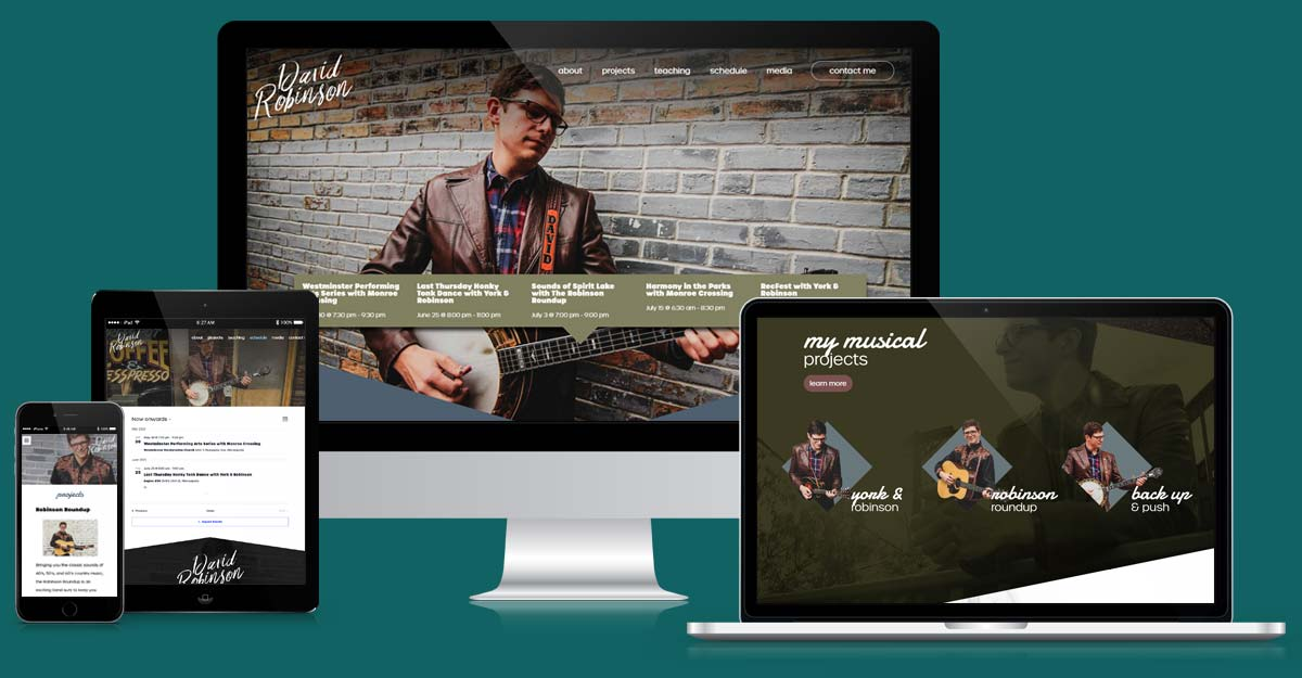 David Robinson Musician Website
